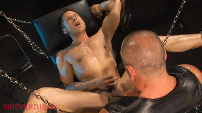 Gay pissing and leather
