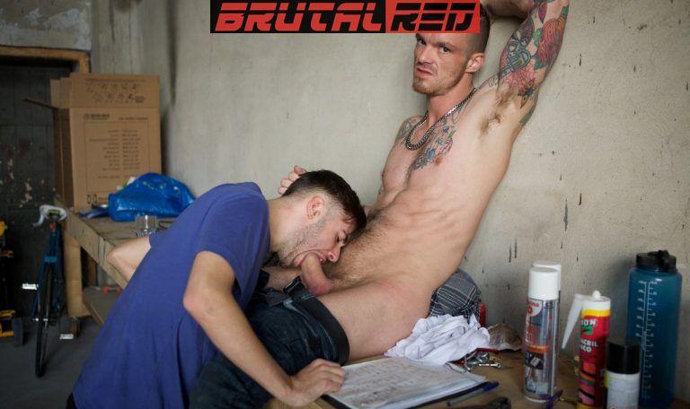 Rough Workplace: AJ Alexander Barebacks David Luca