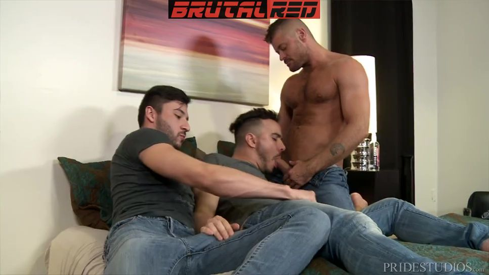 Alessio Vega Gets Double Fucked By Scott DeMarco and Jack Andy 1