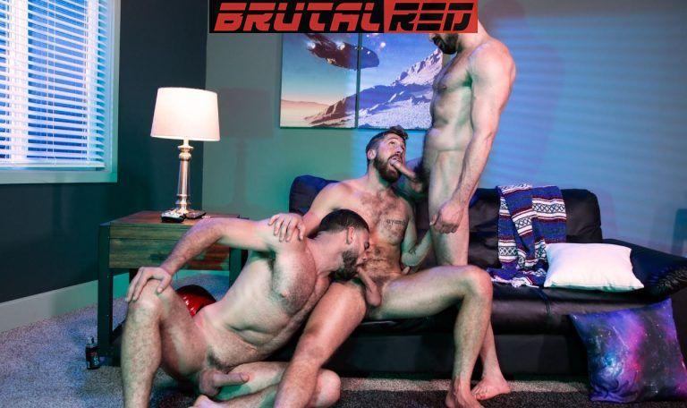 Bareback Crashpad: Ricky Larkin, Wesley Woods & Marco Napoli 2