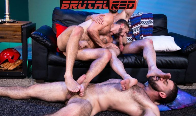 Bareback Crashpad: Ricky Larkin, Wesley Woods & Marco Napoli 3