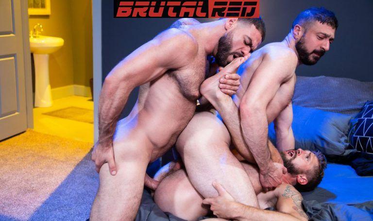 Bareback Crashpad: Ricky Larkin, Wesley Woods & Marco Napoli 7