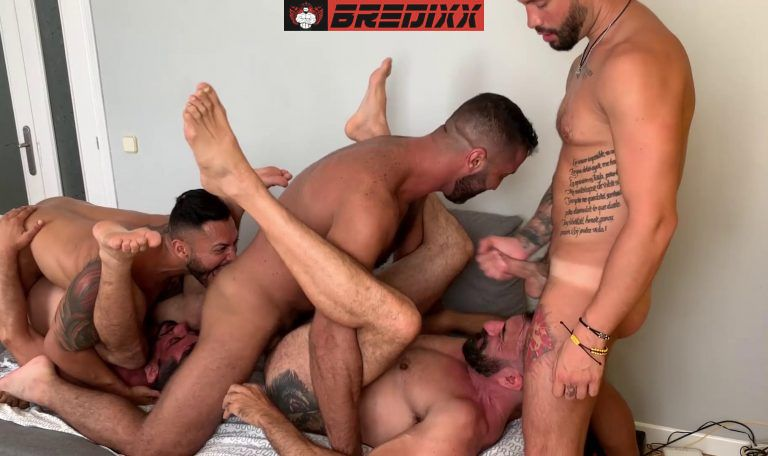 Madrid Pride: 5 Men Bareback Orgy 1