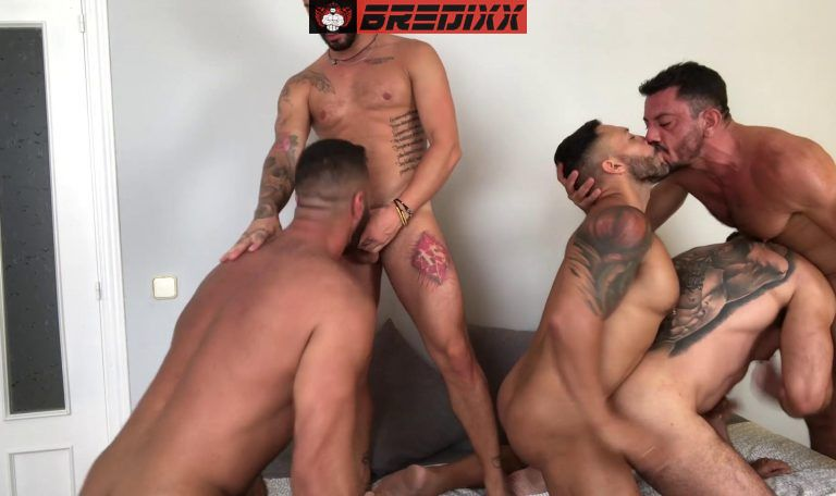 Madrid Pride: 5 Men Bareback Orgy 3
