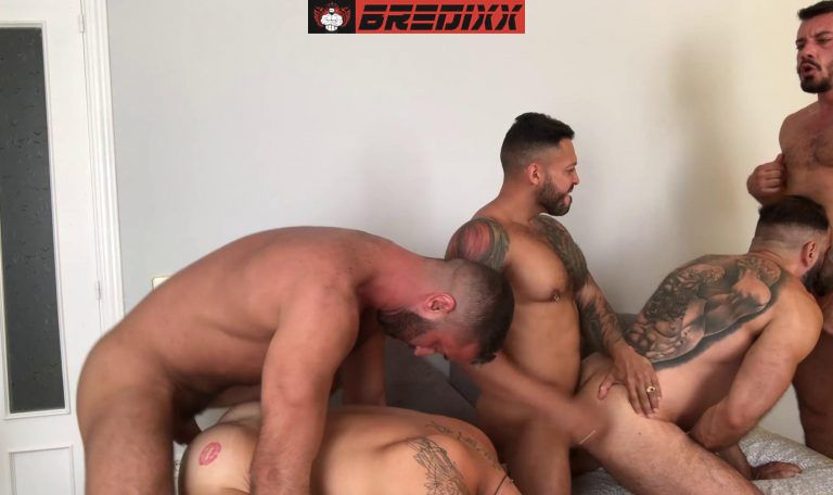 Madrid Pride: 5 Men Bareback Orgy 4