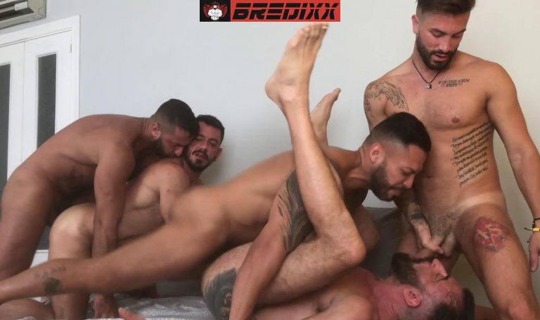 Madrid Pride: 5 Men Bareback Orgy 5