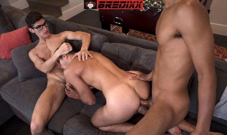 Angel Rivera, Aiden Ward and Marcus Young - Bareback Threesome 3
