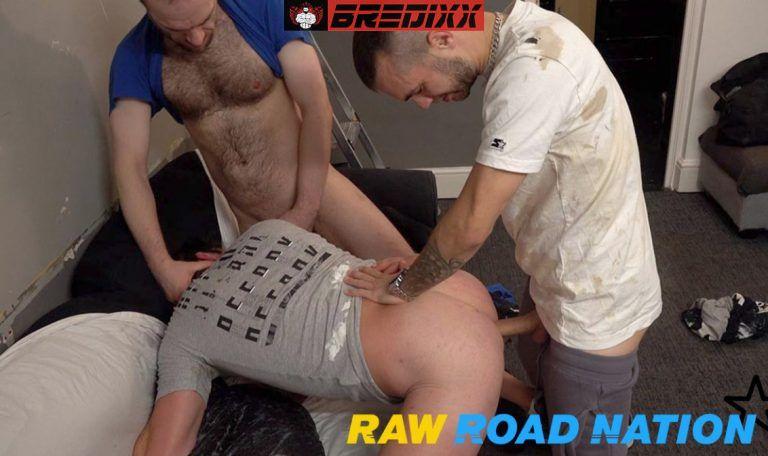 4 Guys Bareback & Pissing Orgy - Raw Road Nation 2