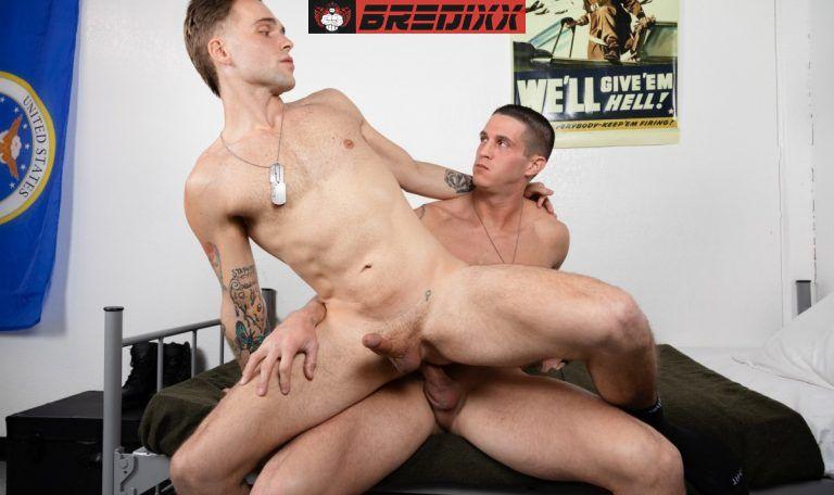 Soldiers Nick Clay & Trent Marx Enjoy Bareback in The Barracks 4