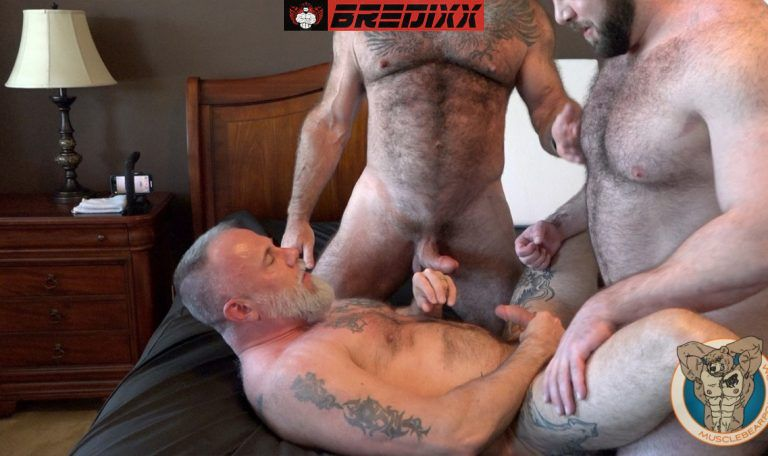 Teddy Hunter Joins Muscle Bears Will & Liam Angell 4