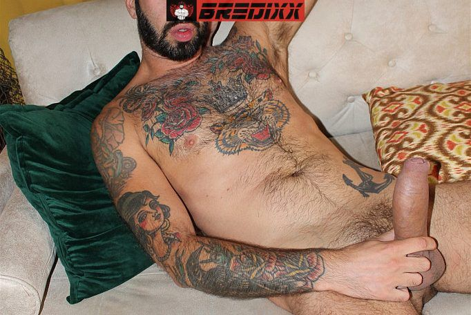 Romeo Davis Licks His Own Hairy Pits While Jerking Off